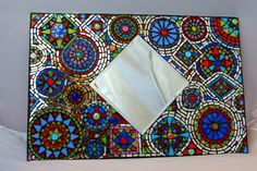 Stained Glass Mosaic Mirror/ home Decor/ Santa Fe Style