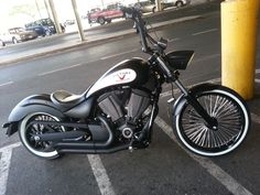 Customer Aaron Andaya's Victory Highball with our Fat 50's. Ride Wright Wheels #135