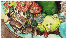 Howl's Moving Castle [gif] by eamanee.deviantart.com on @DeviantArt