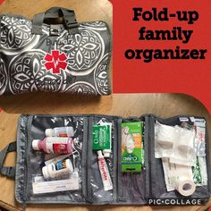Create your own first aid kit with the fold up family organizer from Thirty-One!