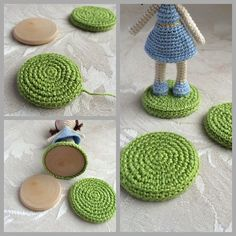 Crocheted bases for my dolls - DoubleTrebleTrinkets
