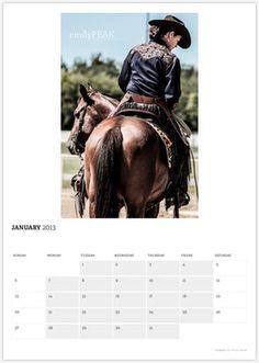 2013 Cowgirl Calendar
