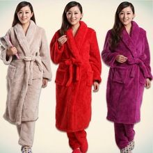 bee7350581 2014 new winter robe thickening bathrobes sleepcoat women sleepwear coral  fleece robe(China (Mainland