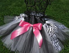 Zebra Print/Black and White/Hot Pink ballet birthday theme - love!