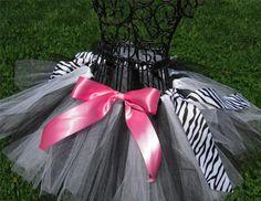 Zebra Print/Black and White/Hot Pink ballet birthday theme - love!