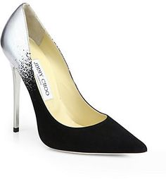 Jimmy Choo Anouk Suede & Metallic Leather Degrade Pumps on shopstyle.com
