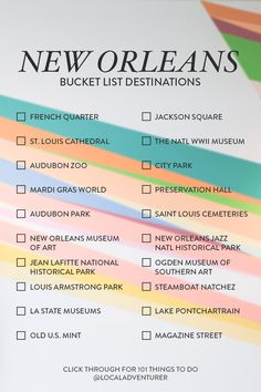 Looking for exciting new things to do in New Orleans? Whether you're a local or visitor here's your ultimate New Orleans bucket list from a local plus tips for first time visitors // Local Adventurer #localadventurer #neworleanstrip #louisiana #nola #visittheusa #bucketlisttravel #travelbucketlist #neworleans