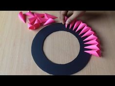 Paper Craft For Home Decoration | Wall Hanging Ideas | Paper Flower Wall Hanging | Paper Craft - YouTube Paper Wall Hanging, Wall Hanging Crafts, Hanging Flower Wall, Paper Flower Wall, Flower Wall Decor, Diy Crafts For Gifts, Diy Father's Day Gifts, Father's Day Diy, Hobbies And Crafts