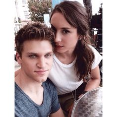 Troian Bellisario and Keegan Allen are so cute in this photo. | Pretty Little Liars