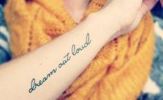 ''Sonhar em voz alta.''