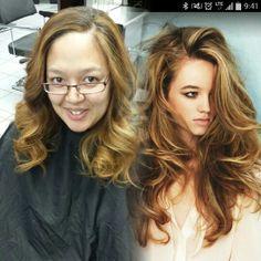 #longhairdontcare #balayage #fromjetblacktoblonde  long blonde hair.
