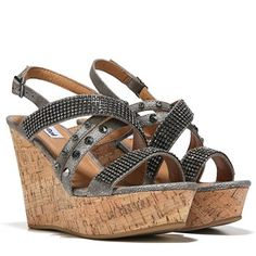 Not Rated Viti Wedge Sandal Pewter