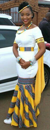 A Venda Bride For A Perfect Traditional Wedding South African Dresses, South African Wedding Dress, African Traditional Wedding Dress, African Fashion Traditional, South African Fashion, African Fashion Designers, Latest African Fashion Dresses, African Print Dresses, African Print Fashion
