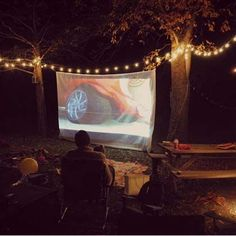 Backyard Movie Night..can't wait for summer!