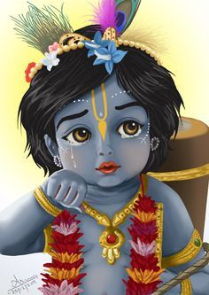 Cute Lord Damodara by nairarun15.deviantart.com on @deviantART