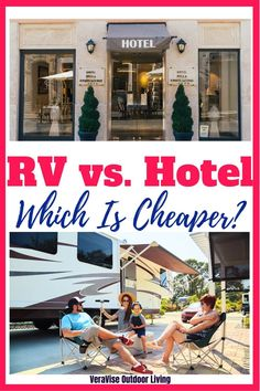 If you've ever wondered if traveling in your RV travel trailer would be cheaper than a week in a hotel, then you and I have been thinking the same thing. I decided to set out to answer the question: Is it cheaper to RV or Stay In Hotels? What To Bring Camping, Best Tents For Camping, Camping Guide, Camping Style, Rv Camping, Camping Hacks, Glamping, Travel Info, Travel Tips