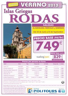 RODAS Islas Griegas salida. 26/06 al 08/09 desde Barcelona ( 9d/8n) p.f. 839€ - http://zocotours.com/rodas-islas-griegas-salida-2606-al-0809-desde-barcelona-9d8n-p-f-839e-5/
