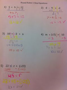 Activity for teaching equations