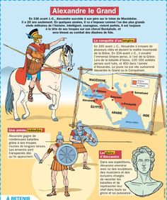 Science infographic and charts Alexandre le Grand Infographic Description Fiche exposés : Alexandre le Grand - Infographic Source - My English Teacher, French Teacher, French Class, Teaching French, Best History Books, World History, Alexandre Le Grand, Cultura General, French Language Learning