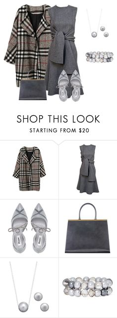 """Gray Matters"" by sdee02 ❤ liked on Polyvore featuring Dune, Vintage Collection and Vieste Rosa"