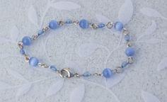 Light+Blue+Bead+Bracelet+by+KateMaderDecor+on+Etsy Blue Beads, Light Blue, Beaded Bracelets, Etsy, Jewelry, Fashion, Moda, Jewlery, Jewerly