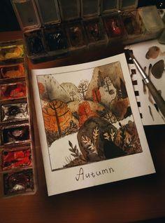 Sketch of the autumn forest 🍂🍁 Autumn Inspiration, Painting Inspiration, Art Inspo, Autumn Cozy, Autumn Forest, Autumn Fall, Winter, Herbst Bucket List, Autumn Aesthetic