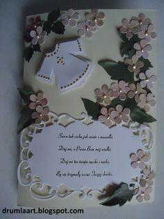 kartka na Chrzest  drumlaart.blogspot.com Baby Cards, Frame, Decor, Decoration, Decorating, A Frame, Dekorasyon, Frames, Dekoration