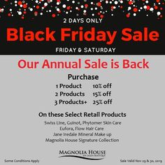 You won't want to miss our 2 day annual BLACK FRIDAY sale. We look forward to seeing you. Black Friday Madness, Black Friday 2019, Black Friday Specials, Black Friday Shopping, Looking Forward To Seeing You, Magnolia Homes, Spa Day, Christmas And New Year, Gta