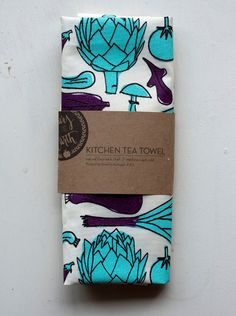 Kitchen Tea Towel from Yours Is The Earth-$18 #designsponge