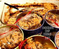 michelle paige: (5 Ingredients) Chocolate Chip Cookie Bars Chocolate Chip Cookie Bars, Dessert Buffet, Breakfast, Desserts, Wedding, Food, Morning Coffee, Tailgate Desserts, Valentines Day Weddings