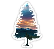 'Spruce Tree' Sticker by keepo Spruce Tree Stickers Red Bubble Stickers, Cool Stickers, Printable Stickers, Laptop Stickers, Outdoor Stickers, Spruce Tree, Tumblr Stickers, Tree Silhouette, Aesthetic Stickers