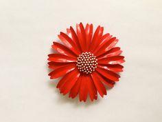 Vintage Signed Crown Trifari Flower Brooch by MtLaurelTreasures, $26.00