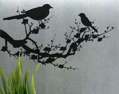 Birds on a Branch  uBer Decals Wall Decal Vinyl by uBerDecals