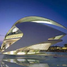 Palau de les Arts Reina Sofia, Valencia, Spain - by Santiago Calatrava