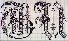 Милые сердцу штучки: Вышивка крестом: Алфавит из французского альбома XIX века (1)