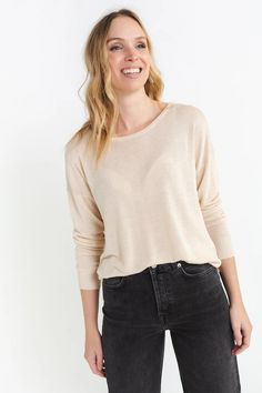 Malene Knit Sandshell – Lily Charlotte, March, Lily, Pullover, Boutique, Denim, Knitting, Stylish, Sweaters