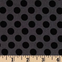 Michael Miller Ta Dot Ebony - Discount Designer Fabric - Fabric.com