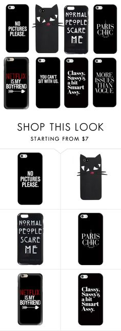 """""""Black"""" by bracefacebabe ❤ liked on Polyvore featuring Casetify"""