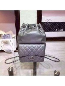 Chanel Silver Calfskin Backpack Cruise 2016