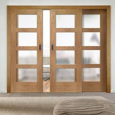 A new style of sliding oak door & frame system, lots of styles and sizes can be created. #cretaedoors #slidingdoors #oakdoors