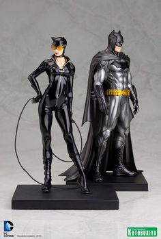 Catwoman and Batman.