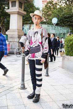 Harajuku Guy w/ Qosmos, Vintage & Wesco Fashion