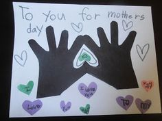 Easy - and awesome - Mother's Day handprint craft!