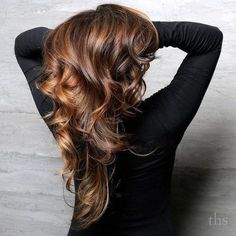 Caramel+Highlights+For+Brown+Hair: Dark Brunette hair with peek a boo highlights