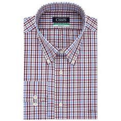 """1898028_Wine%3Fwid%3D800%26hei%3D800%26op_sharpen%3D1 Best Deal """"Men's Apt. 9 Geometric SlimFit Stretch Spread Collar Dress Shirt"""