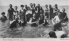 Picture of / about 'Redcliffe' Queensland - Bathers at Redcliffe, ca. 1910