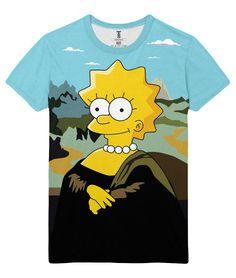 2ba0f7990 nice T-shirt Mona Lisa The Simpsons Da Venci Arts Fun Simpson Loot Merch -