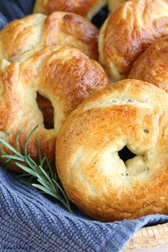 Rosemary Olive Oil Bagels // Thick, chewy homemade New York-style bagels // www.mesacookingco.com
