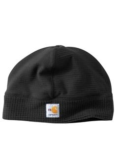 Carhartt Mens Black Flame-Resistant Grid Beanie | Buy Now at camouflage.ca