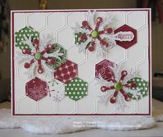 Each month the Latenight Stamper's Design Team will send out a challenge for you to try! The only rules are that you must use at least Stampin Up products! Stamped Christmas Cards, Christmas Cards To Make, Noel Christmas, Xmas Cards, Holiday Cards, Christmas Ideas, Scrapbooking, Scrapbook Cards, Scrapbook Expo